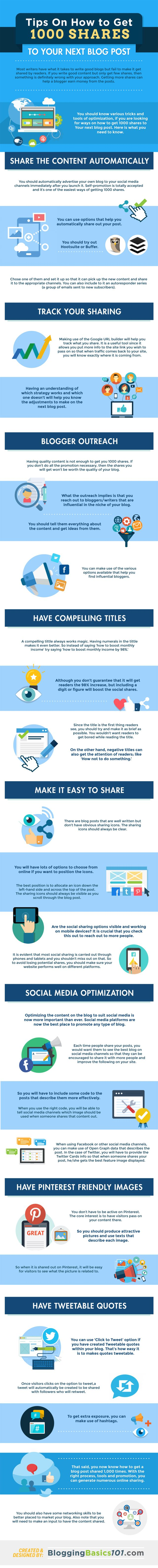 Get some tips on how to get more shares to your blog post! #blog #marketing https://goo.gl/kevQeH