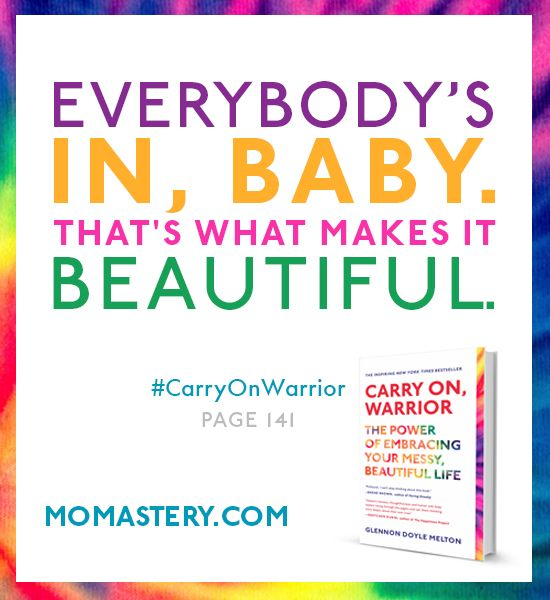 Happy 1st Birthday and Paperback Release Day to Carry On, Warrior. It wouldn't be a party without you, and I am so, so grateful for you. THANK YOU. #CarryOnWarrior - See more at: http://momastery.com/blog/2014/04/08/carry-on-warriors-birthday/#sthash.SQkddvgP.dpuf