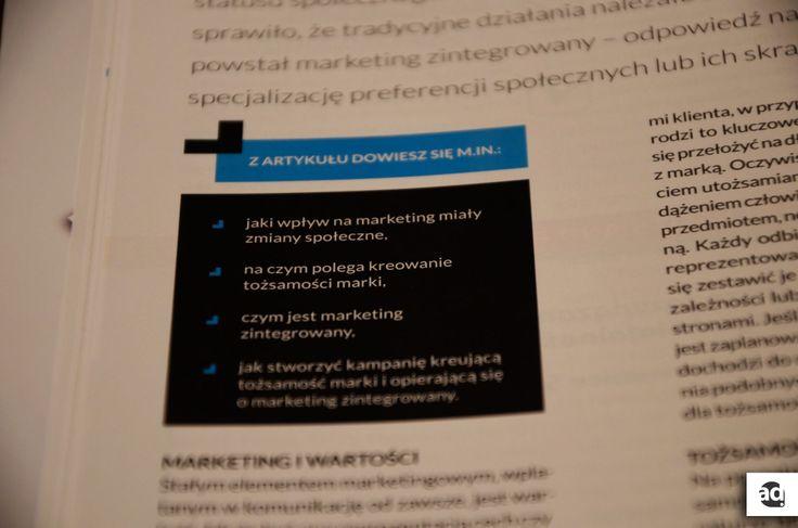 Przypominam, że w aktualnym magazynie Marketer+ piszę o marketingu zintegrowanym w służbie tożsamości marki!  www.marketerplus.pl/teksty/artykuly/marketing-zintegrowany-sluzbie-tozsamosci-marki/