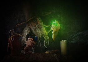 A Wizard Discovers Kyptonite by shamanau
