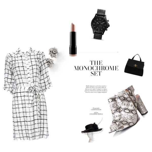 monochrome day by carlifornia101 on Polyvore featuring polyvore fashion style Wallis Glamorous Marc by Marc Jacobs NYX