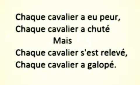 Nous sommes Cavalier...