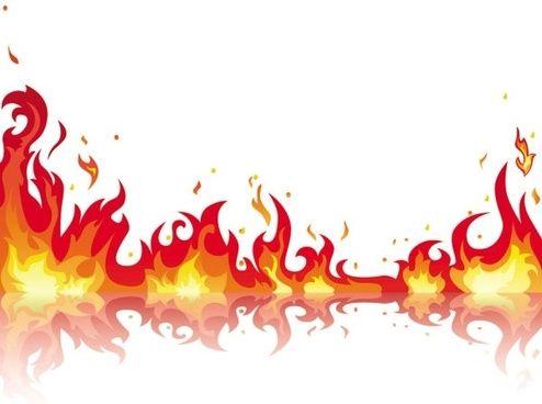 beautiful flame vector clip 05