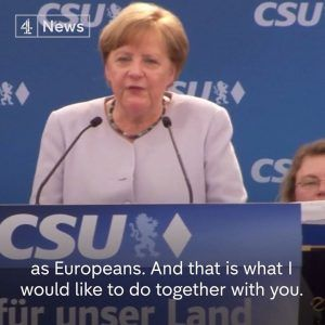 We Europeans must really take our destiny into our own hands.  German Chancellor Angel Merkel sa #news #alternativenews