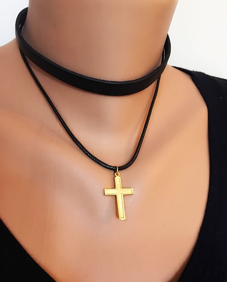 A personal favorite from my Etsy shop https://www.etsy.com/listing/257464449/two-strands-cross-charm-leather