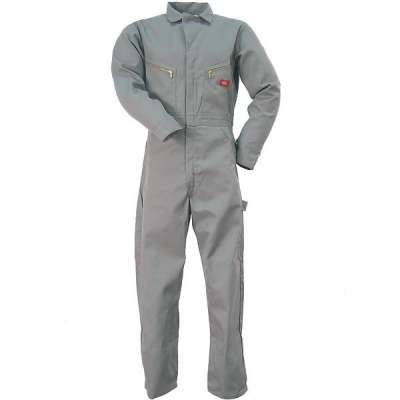 Dickies Coveralls: Gray  Cotton Coveralls with PVA Finish 4870GY
