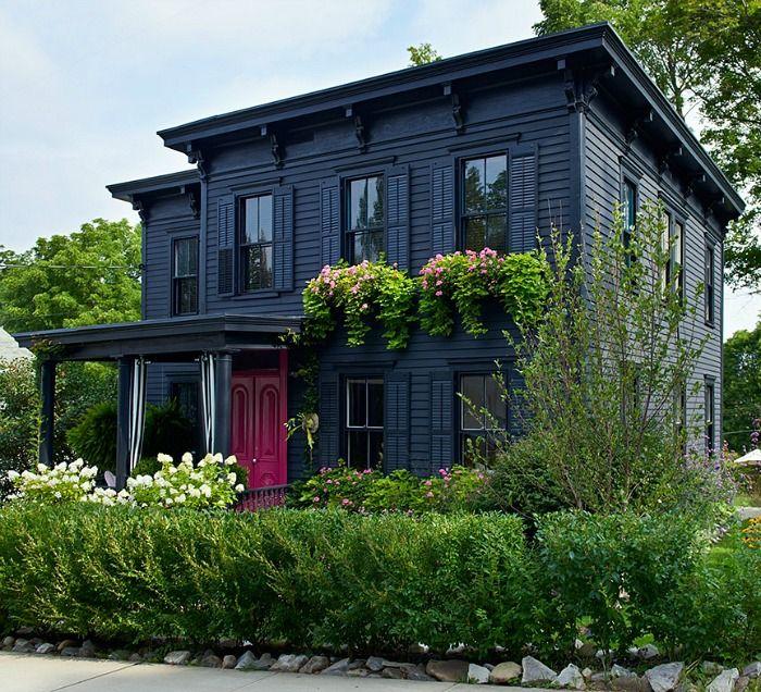 Roger hazard and chris stout hazards black house with pink door in new york