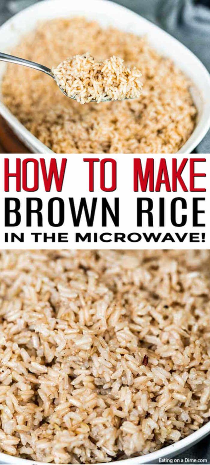 Microwave Brown Rice Cooking