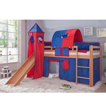 Amazing Halbhohes Bett f r Bett inkl Schreibtisch und Kommoden Wei lackiert Liegefl che cm Schreibtisch ausziehbar bei OTTO