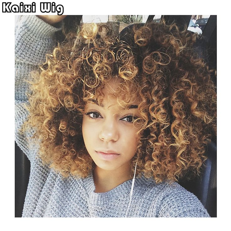 Afro Kinky Curly Wig Synthetic Blonde Black Wig Women Synthetic Curly Cheap Wigs For Black Women Medium Curly Wig Blonde * Ini pin AliExpress affiliate.  Cari tahu lebih lanjut dengan mengklik tombol KUNJUNGI