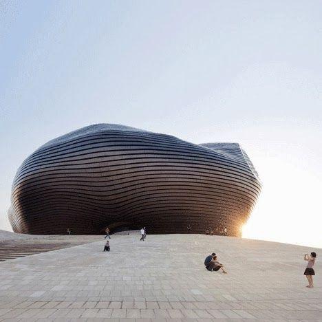 MAD Architects desarrolló el proyecto del Museo de Ordos en el desierto de Gobi