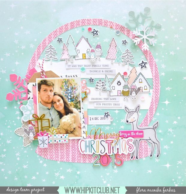 Crate Paper – Snow & Cocoa – Ephemera. SNOW GLOBE LAYOUT | FLORA MONIKA FARKAS