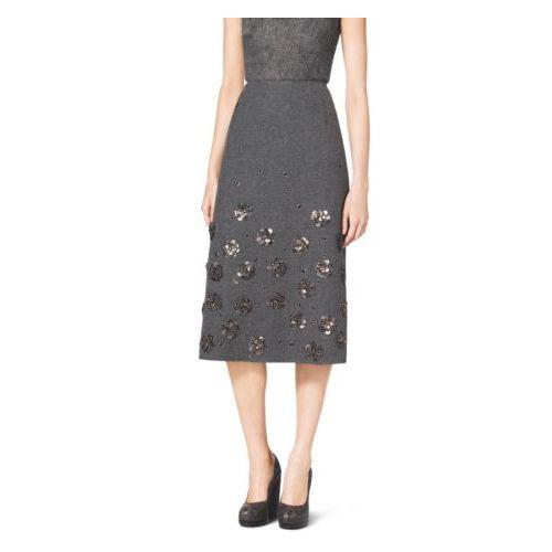 MK Black Friday Sales & MICHAEL KORS COLLECTION Embroidered Silk-Georgette V-Neck Caftan BLACK