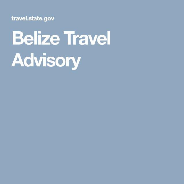 Belize Travel Advisory