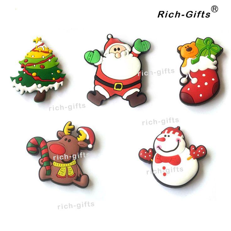Magnet kulkas Disesuaikan Natal Dekorasi Hadiah Promosi PVC Lembut Perampok Magnetic Sticker Fefrigerator Magnet souvenir