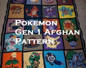 手机壳定制gucci shoes for cheap online Pokemon themed Afghan pattern by stephyw   on Etsy
