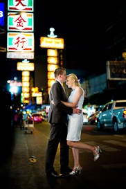 Pre-Wedding pictures at China Town in Bangkok Thailand