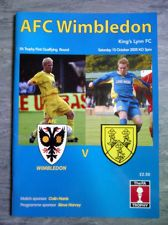 AFC Wimbledon v King's Lynn - 2005/06 F.A.Trophy 1st Qualifying Round