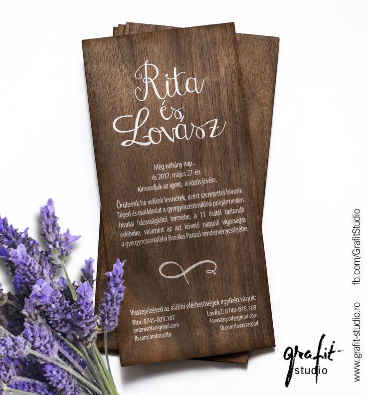 Unique wedding invitation card