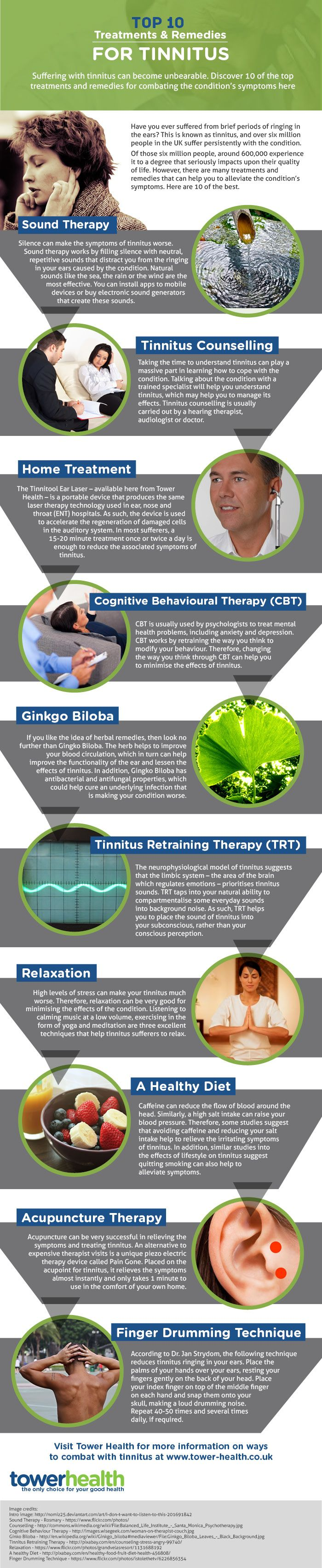 Fact filled #infographic about #tinnitus treatments