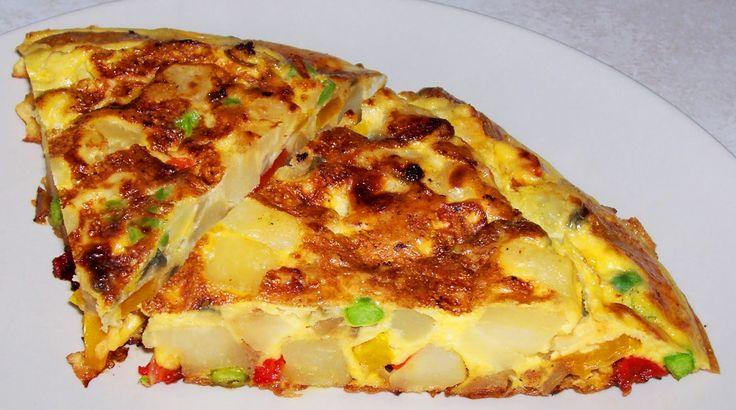 vegetarian, bez lepku, bezlepku, placky, omeleta, omelety, vajce, vajcia, eggs, egg, zemiaky, zemiak, cibula, cibuľa, paprika, zelenina,