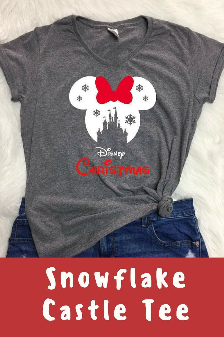 Heading to Disney at Christmas? This Ladies V-neck snowflake Disney shirt would be the perfect addition to your trip. #commissionlink #disney #disneyland #disneyworld #christmas #disneychristmas #disneystyle #disneyinspired #winter