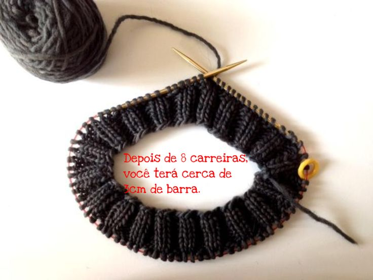 GORRO TRICÔ COM AGULHA CIRCULAR