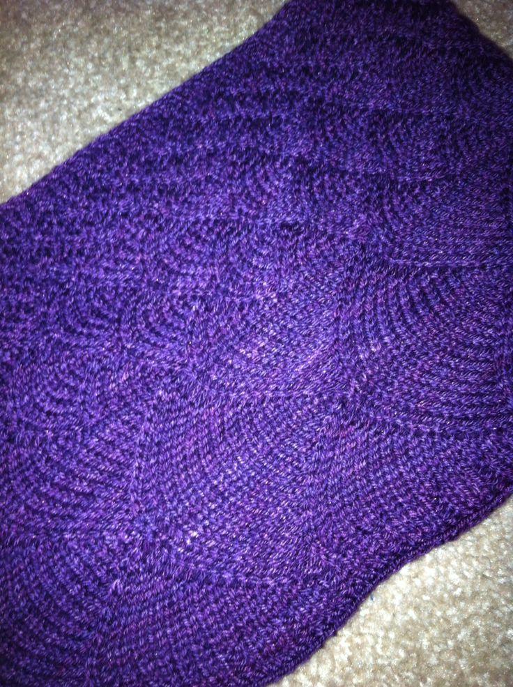 Purple seashell stole