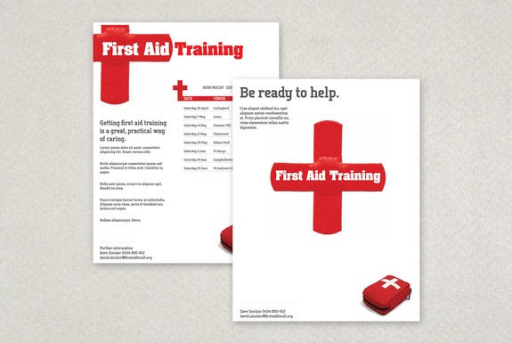 First aid training flyer template running a first aid for First aid certificate template free