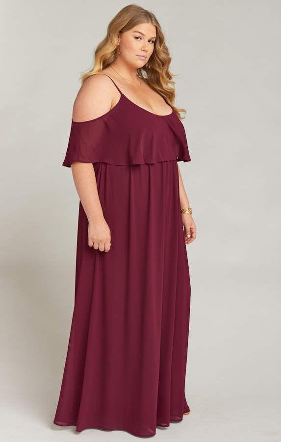 48bdc5067b6 Show Me Your Mumu Caitlin Ruffle Maxi Dress ~ Merlot Chiffon #Caitlin#Ruffle #Show