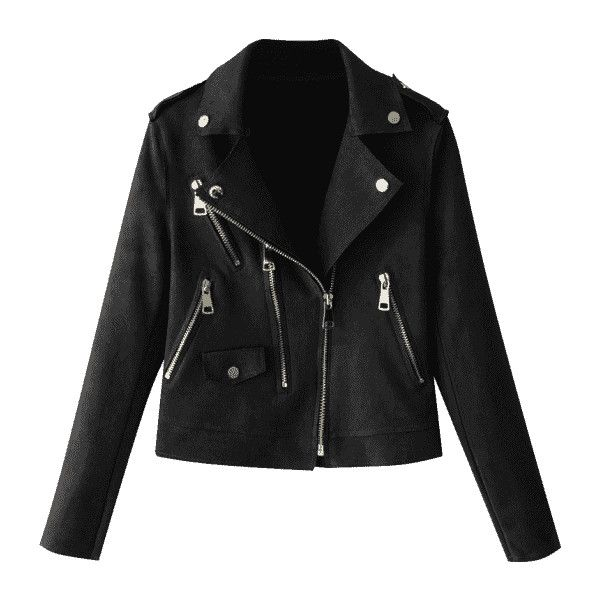 Zip Up Faux Suede Motorcycle Jacket ($30) ❤ liked on Polyvore featuring outerwear, jackets, biker jackets, moto jacket, faux suede jacket, zip up jackets and rider jacket