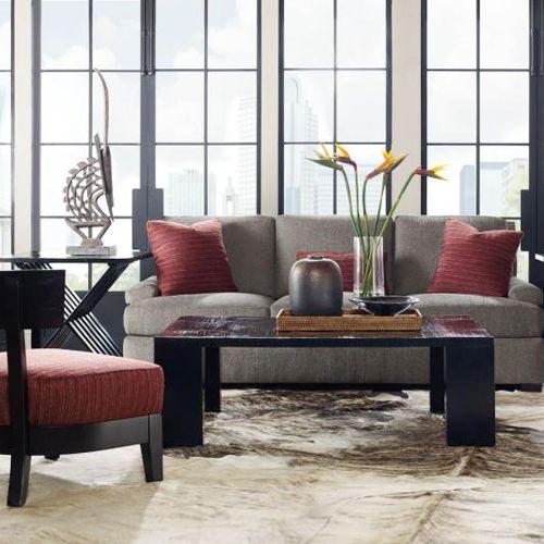 Bernhardt | Hubert Sofa, Camden Chair, Powell Cocktail Table
