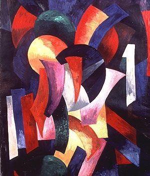 Alexandra Exter. Dynamics of Colour (1918): Dynamic, Aleksandrovna Ekster, Canvas, Colour 1918, Aleksandra Aleksandrovna, Oil