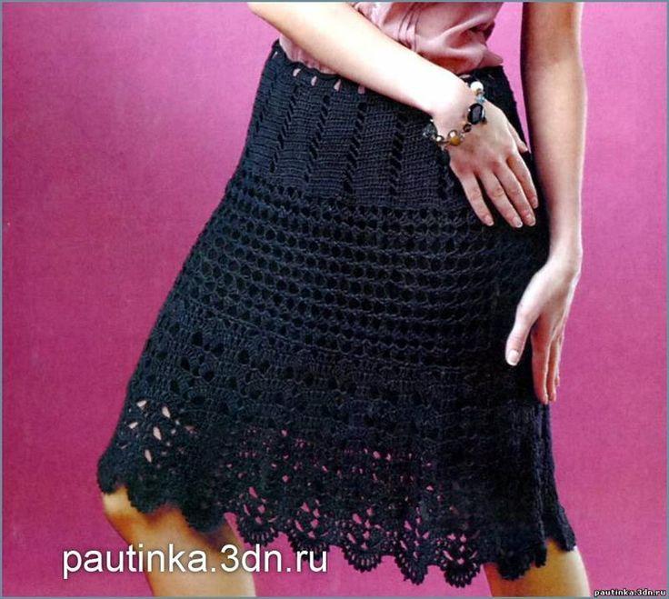 Крючок вязание юбка