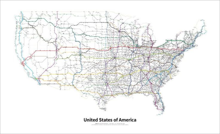 Every Us Highway Drawn In The Style Of A Transit Map