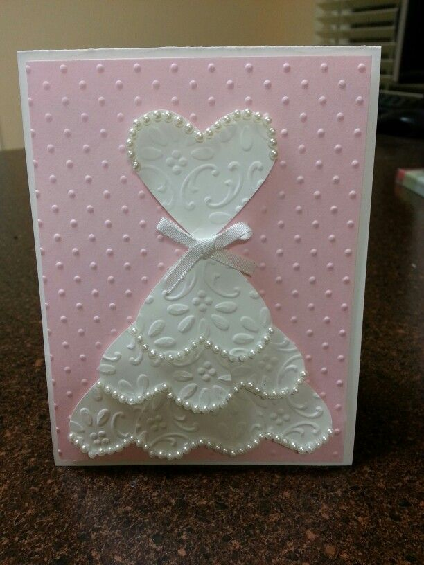 Stampin39 up bridal shower card cards pinterest for Images of wedding shower cards