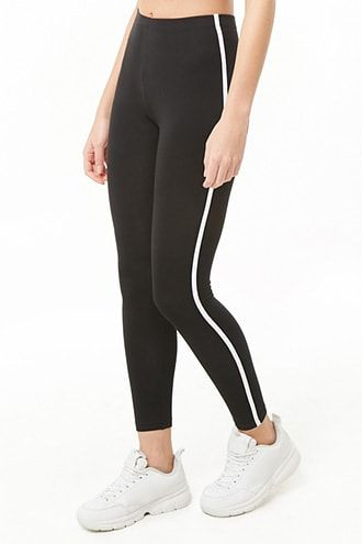 305ac81e83464 Contrast-Trim High-Waisted Leggings   Products in 2019