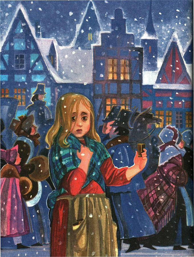 Картинка сказка андерсена девочка со спичками