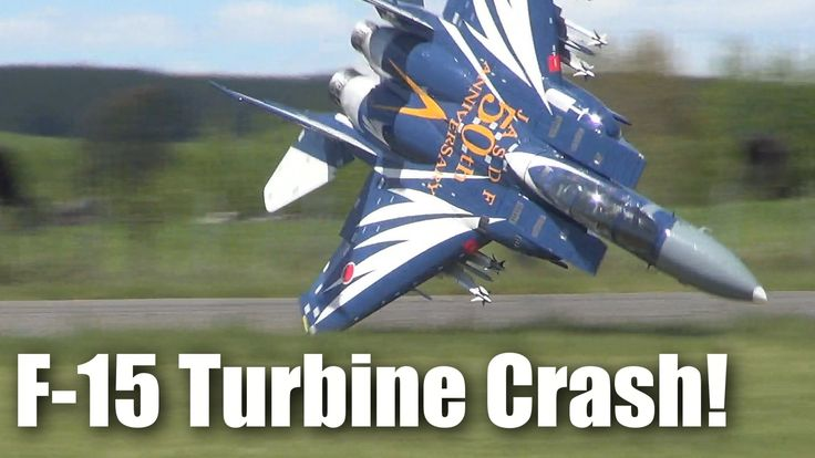 impressive f15 jet crash large rc turbinepowered model