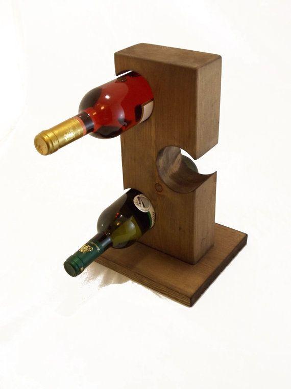 539 best images about wood wine racks caddies on pinterest for Tabletop wine rack plans