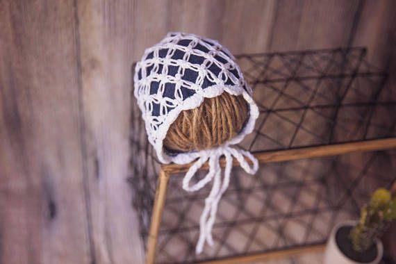 Jean bonnet jean cap for newborns vintagehat crochet