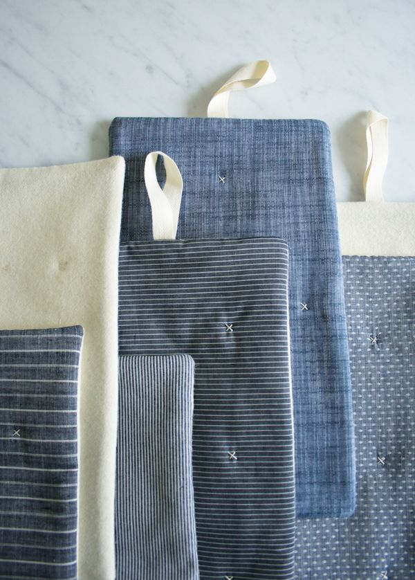 Molly's Sketchbook: Simple Stitched Hot Pads