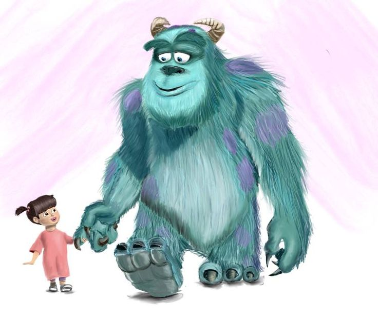 Sully and Boo from Monster's Inc - Digital/colored pencil