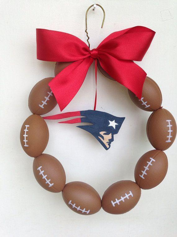 New England Patriots Football Wreath on Etsy, $45.00 | Sports Parties