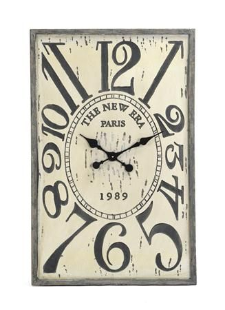 The Square Wooden Clock is a modern French design with numbers of different  sizes as they