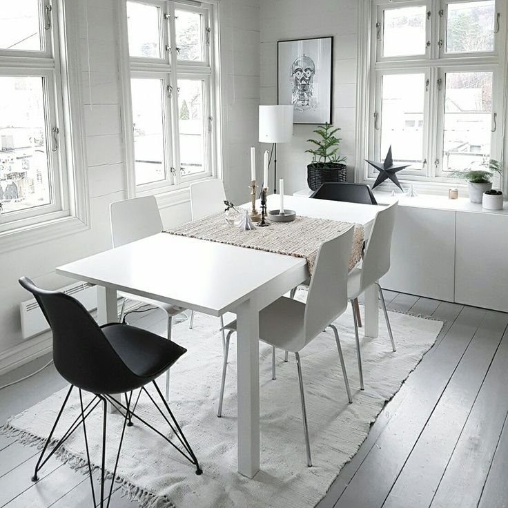 My new scandinavian diningroom are falling in to place Love to use winter white❄ Instagram: nisbaxter
