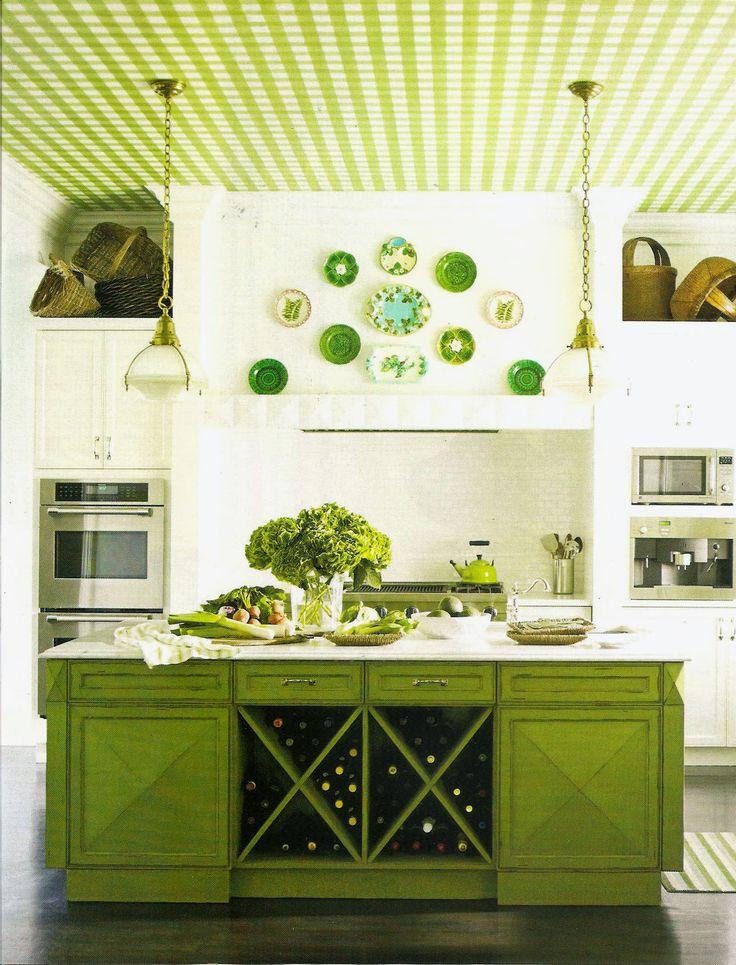 Glazed Apple Green Cabinets