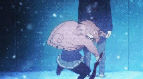 gif Cool anime epic action scenes battle knk Kyoukai no Kanata mirai kuriyama shizuku ninomiya izumi nase sakura inami