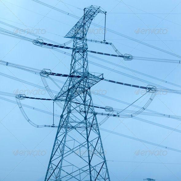 Electricity pylon ... architecture, business, cable ...