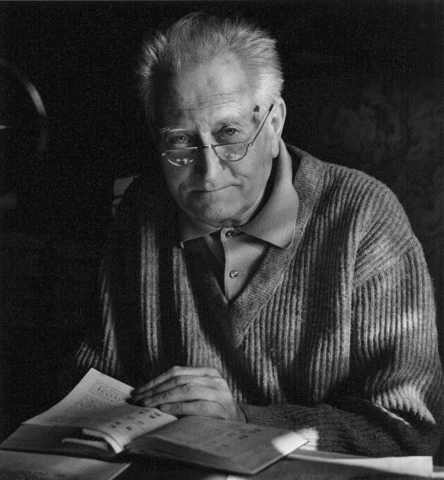 Jean Dieuzaide, dernier portrait de Jean Giono, Manosque, 1968.